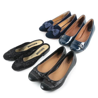 Marais and Clarks Flats with Beverly Feldman Beaded Slides