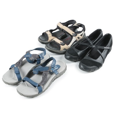 Women's Ecco and Skechers Sandals and Slip-Ons