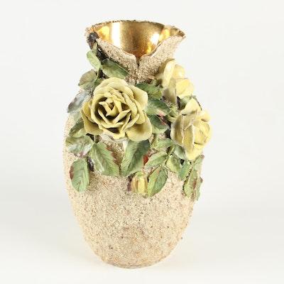 Cincinnati Art Pottery Barbotine Style Vase, 1885