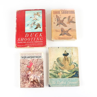 "Game Bird Books including ""A Book on Duck Shooting"" by Van Campen Heilner"
