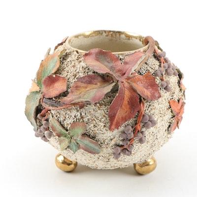 Cincinnati Art Pottery Barbotine Style Footed Vase, 1886