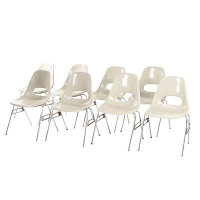 Krueger Mid Century Modern Taupe Molded Fiberglass Classroom Chairs
