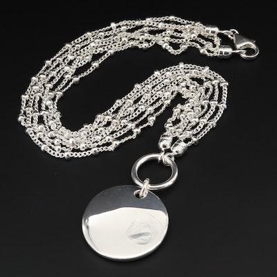 Fine Silver Multi-Strand Necklace
