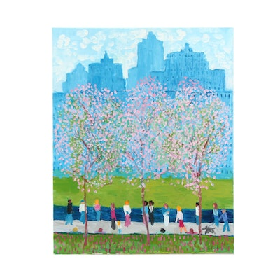 "Will Becker Acrylic Painting ""A Peaceful Spring Day"""