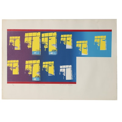 "Lee Quanpui Serigraph ""New York Passenger"", 1976"