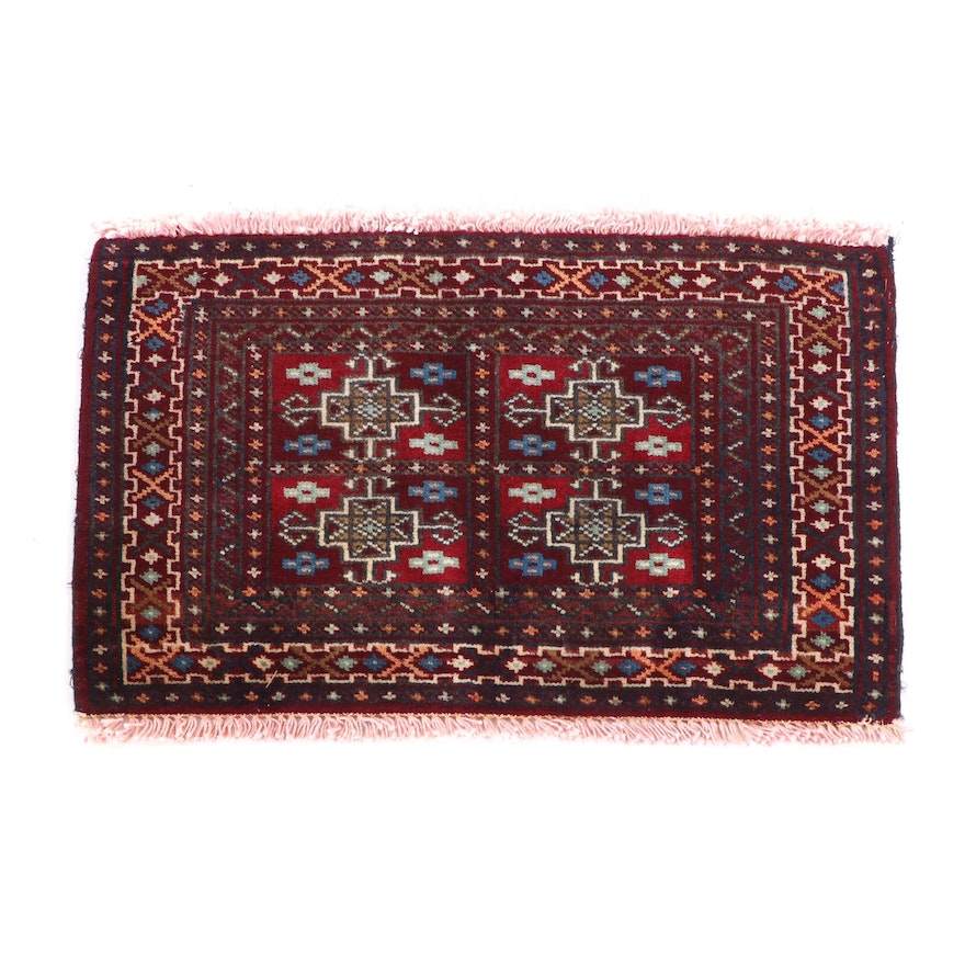 Hand-Knotted Wool Floor Mat