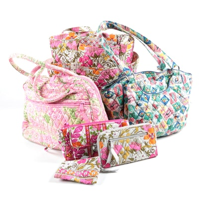"Vera Bradley Quilted Bags Including ""Tea Garden"" Tote with Wallet and Coin Purse"