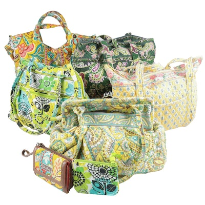 "Vera Bradley Alice Kisslock ""Lemon Parfait"" Shoulder Bag and More Quilted Bags"