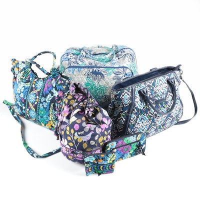 "Vera Bradley Bags Including ""Midnight Blues"" with Wallet and ""Santiago"" Duffel"