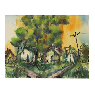 Kathleen Zimbicki 1999 Landscape Watercolor Painting