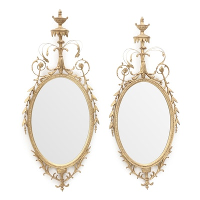 Adams Style Carvers Guild Giltwood Mirrors, Lat 20th Century