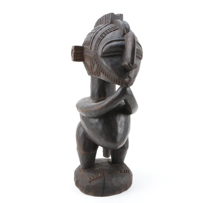"""West African Baga """"D'mba"""" Hand-Carved Standing Male Figure"""
