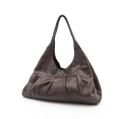 Sigrid Olsen Brown Grained Leather Handbag