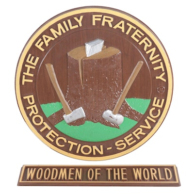 The Family Fraternity Protection Service and Woodmen Of The World Signs