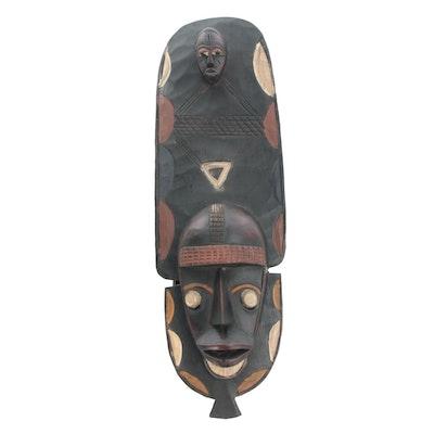 Decorative Wooden Mask from Côte d'Ivoire