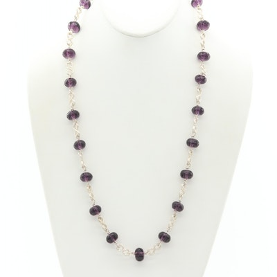 Jewelry by Wendy Lea Sterling Silver and Glass Beaded Necklace