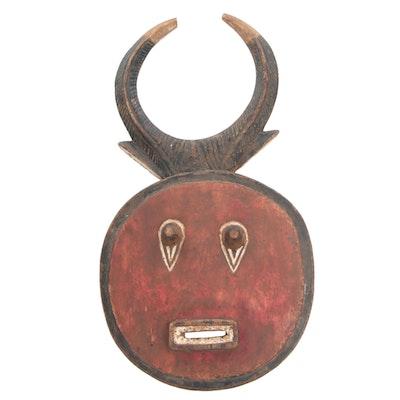 Decorative Wooden Baule Style Mask