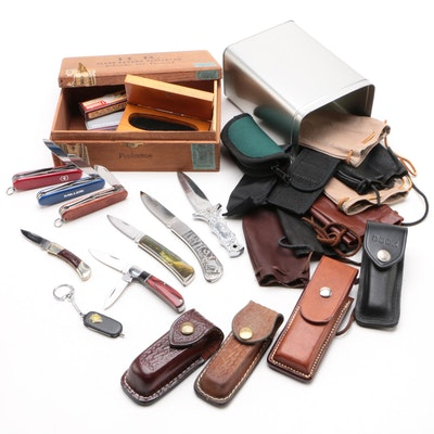 Folding Knives, Pouches, and Cases, Including Victorinox Swiss Army Knives