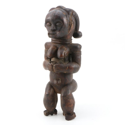 """Central African Fang """"Byeri"""" Female Reliquary Figure"""