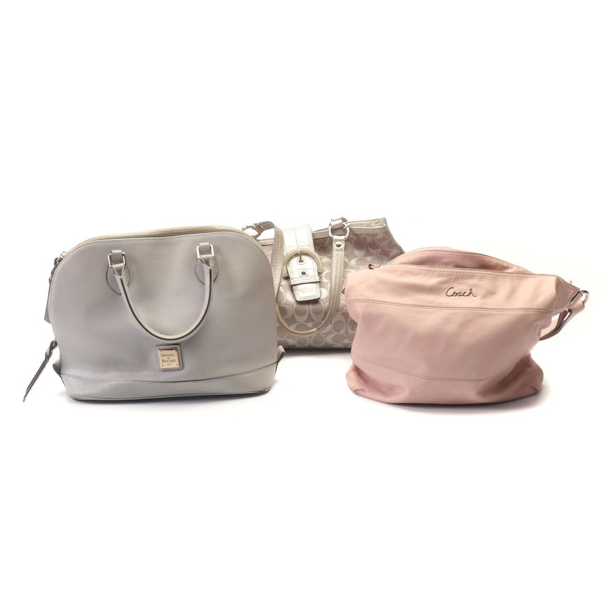 Coach and Dooney & Bourke Leather and Signature Canvas Handbags