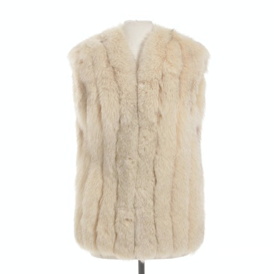 Fox Fur Vest with Sateen Lining, Vintage