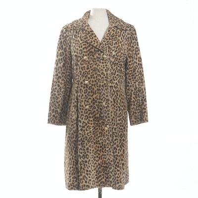 Vintage Faux Fur Leopard Print Peacoat