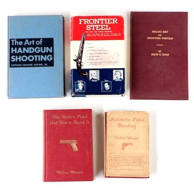 """Firearms Books including """"Frontier Steel"""" by Waldo E. Rosebush, 1958"""