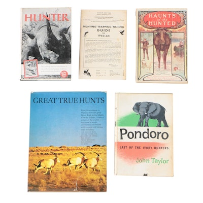 "Hunting Books featuring ""Great True Hunts"" Edited by Peter Barrett, 1967"