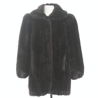 Jordache Faux Fur Coat, 1980s Vintage