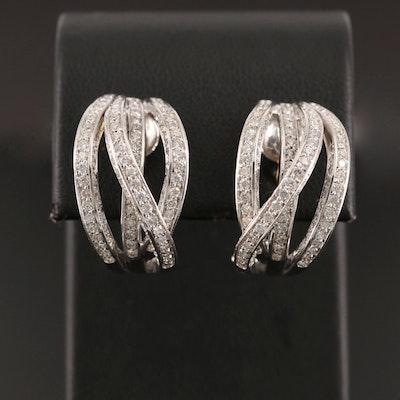 18K White Gold 4.00 CTW Diamond Earrings