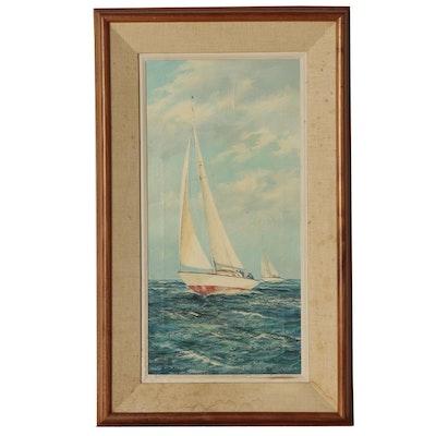 M.G. Friedrich Marine Oil Painting