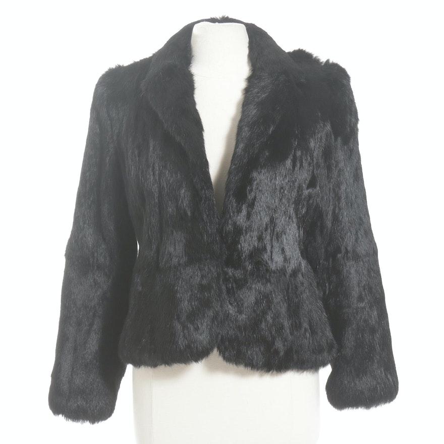 Dyed Black Rabbit Fur Jacket