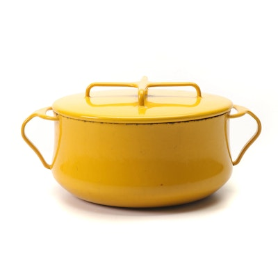 "Dansk ""Kobenstyle"" Yellow Enameled Cooking Pot"