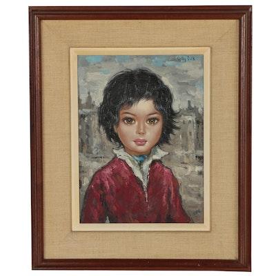 Nelly Dax Oil Portrait of a Child