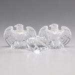 Steuben Eagle Crystal Figurines and Eagle Crystal Hand Cooler