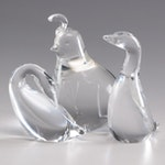 Steuben Crystal Bird Figurines