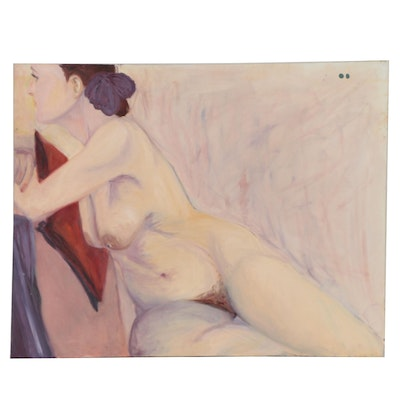 Rebecca Sharfman Oil Painting of a Female Nude