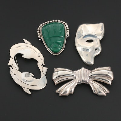 Mexican Sterling Silver Brooch Assortment