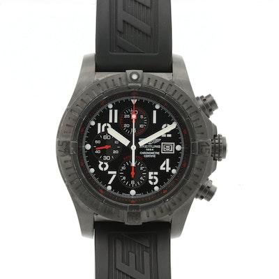 Breitling Super Avenger Black Steel Limited Edition Chronograph Wristwatch, 2009