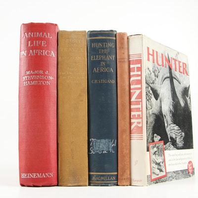 "Game Hunting Books including ""Animal Life in Africa"" by J. Stevenson-Hamilton"