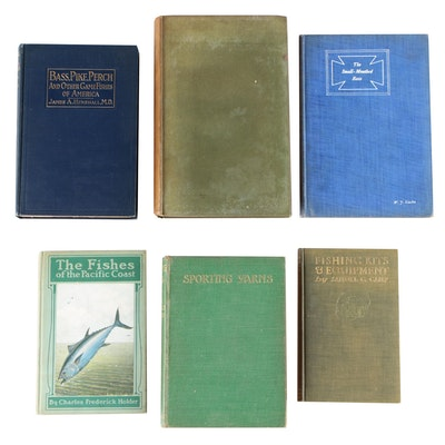 "Fishing Books including ""Fishing Kits and Equipment"" by Samuel G. Camp"