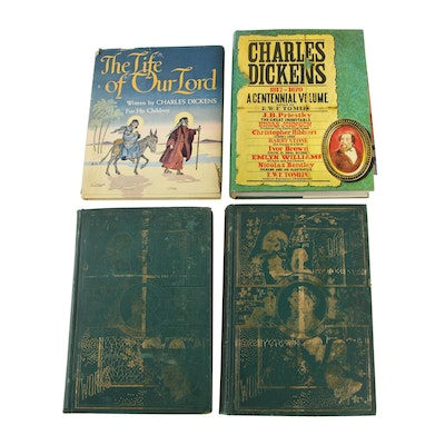 """Charles Dickens Books including 1936 Illustrated """"The Life of Our Lord"""""""