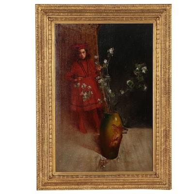 20th Century Figural Oil Painting Attributed to Cincinnati Rookwood Artist