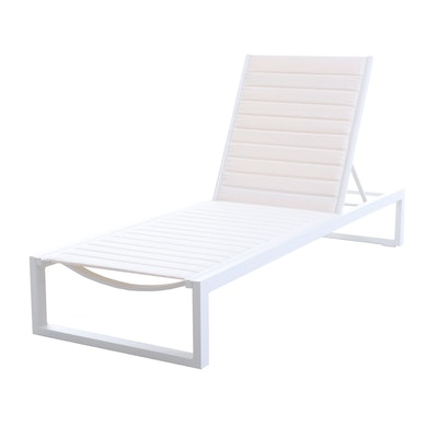 "Matthew Hilton ""Eos"" Chaise Lounge in White"