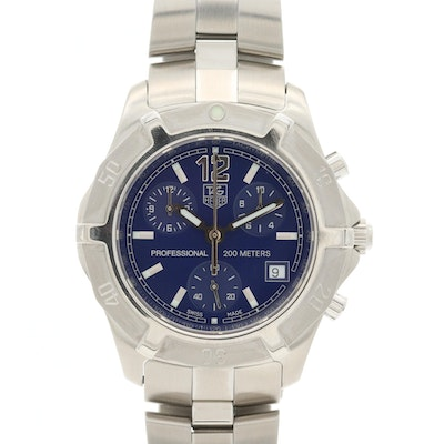 TAG Heuer 2000 Exclusive Stainless Steel Quartz Chronograph Wristwatch