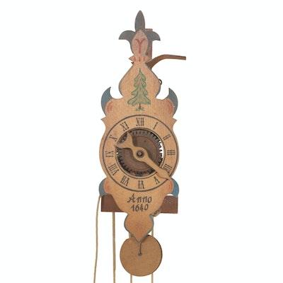 Waaguhr Reproduction Wooden Mechanical Clock