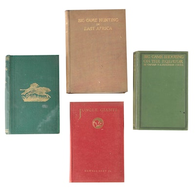 """Hunting Books featuring Doris Bent-Signed """"Jungle Giants"""" by Newell Bent Jr."""