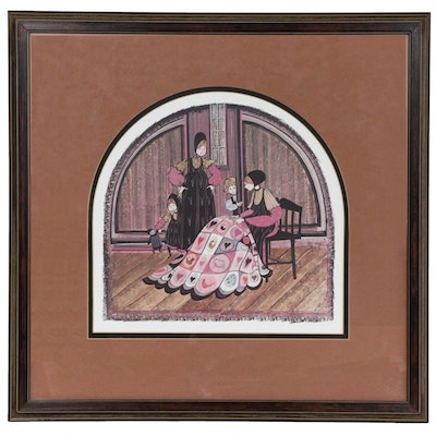 "P. Buckley Moss Offset Lithograph ""Family Heirloom"""