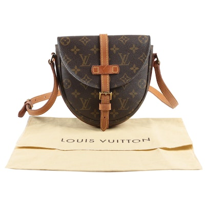 Louis Vuitton Paris Chantilly Crossbody Bag in Monogram Canvas and Leather