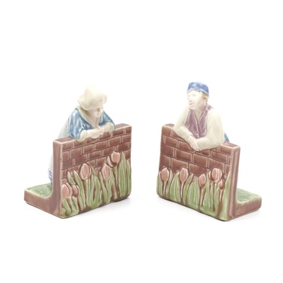 Rookwood Dutch Boy and Girl Bookends Designed by Sallie Toohey